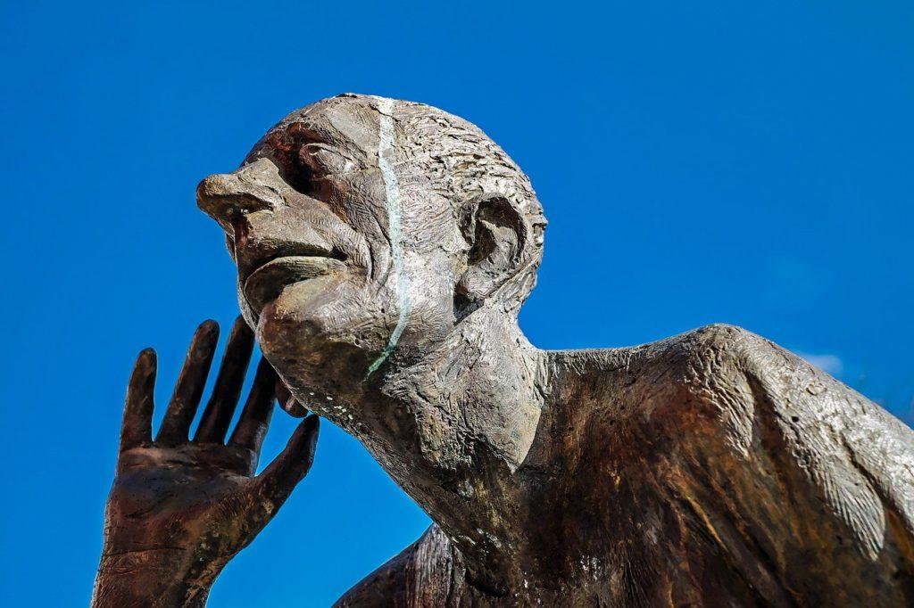 sculpture, bronze, the listening